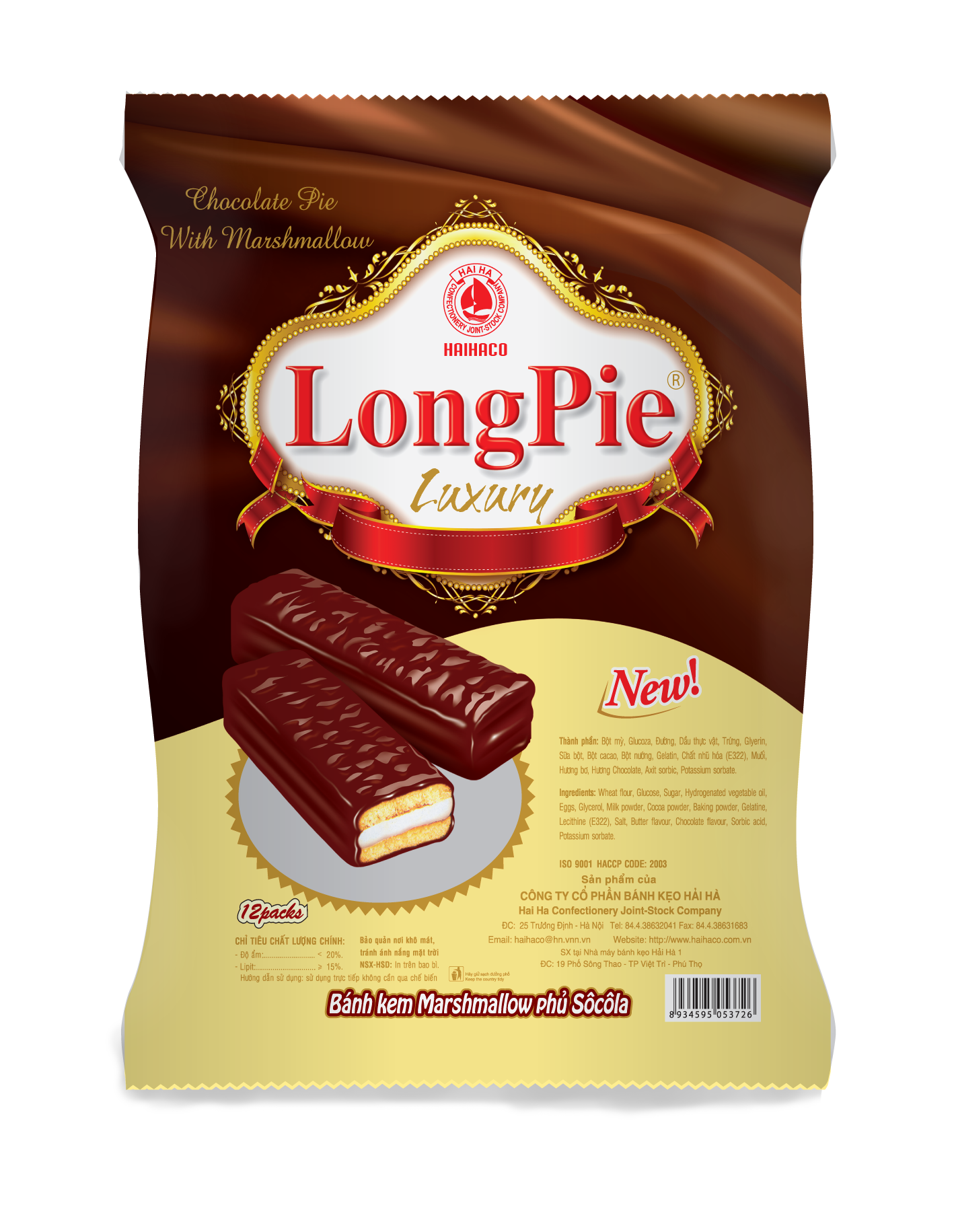 Bánh LONGPIE LUXURY 216g